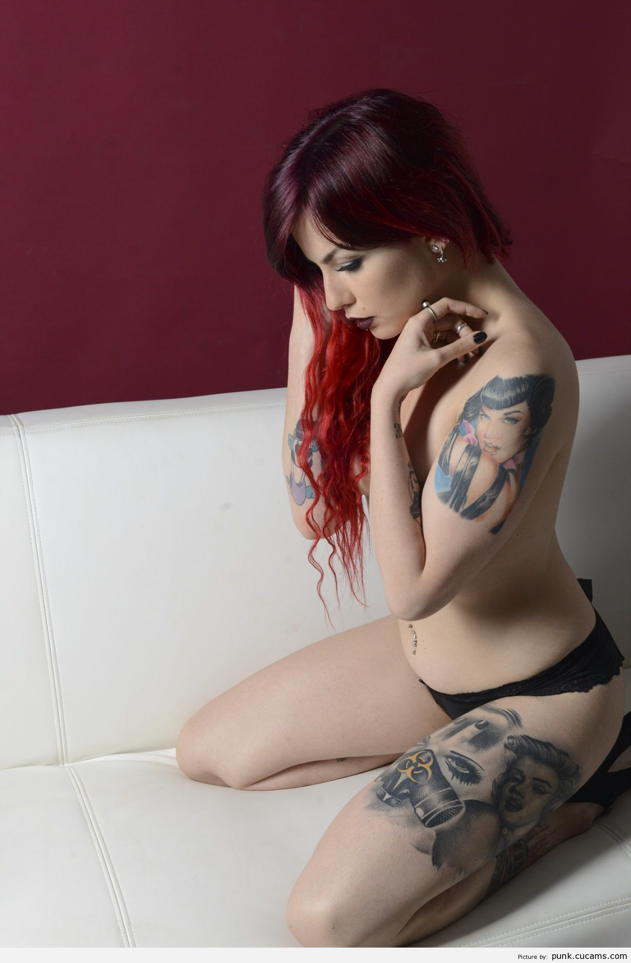 Punk Pain Topless by punk.cucams.com